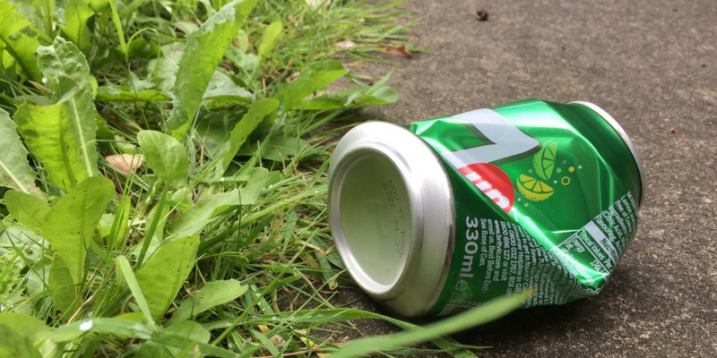 Discarded Drink Can