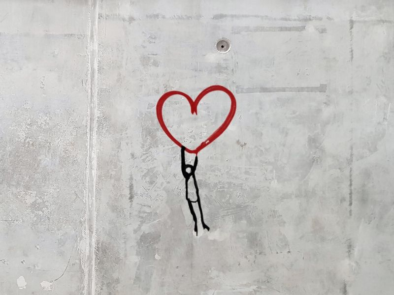 Heart on Wall