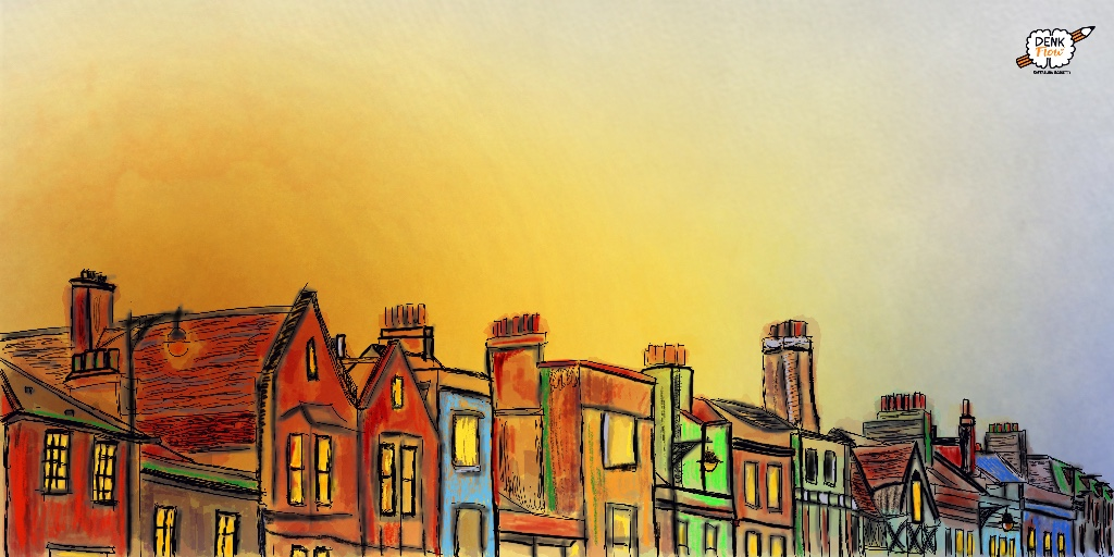 Houses In The Sunrise